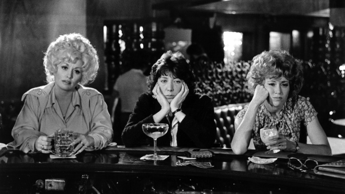"DECEMBER 19:  (L-R) Dolly Parton, Lily Tomlin and Jane Fonda acts in a scene from the movie ""9 to 5"" which was released on December 19, 1980. (Photo by Michael Ochs Archives/Getty Images)"